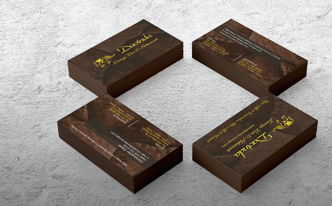Cartão de Visita Davinda Lounge