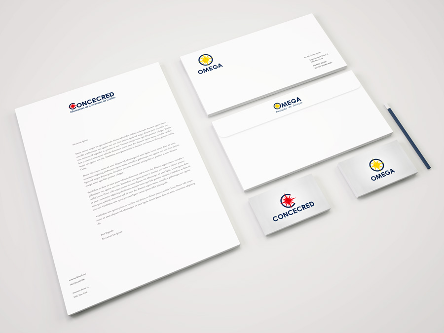 Concecred & Omega Corporate Identity