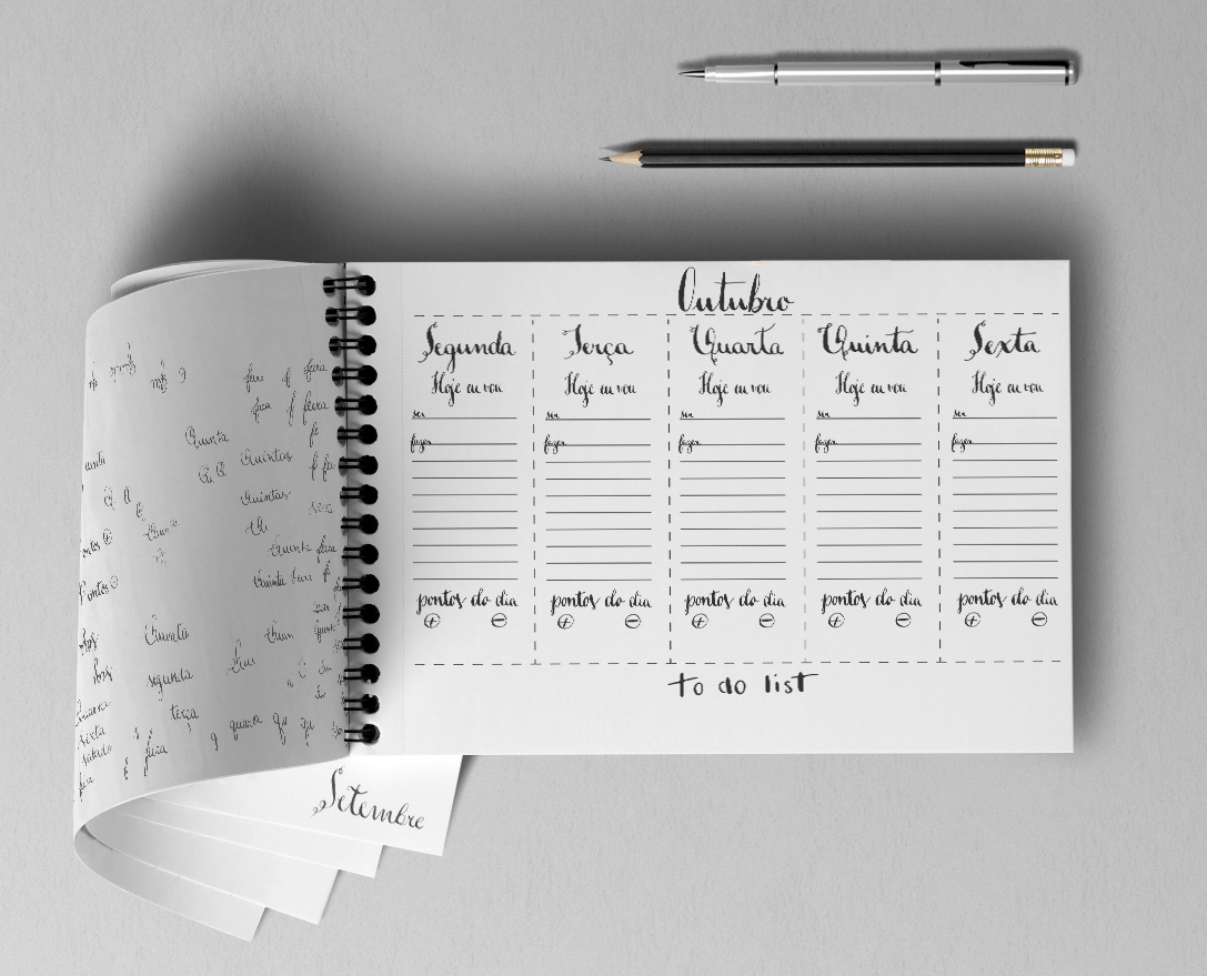 Planner Semanal Handwriting