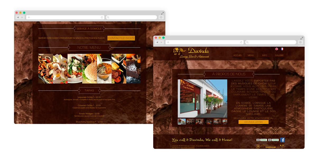 Criação Web Site Davinda Lounge