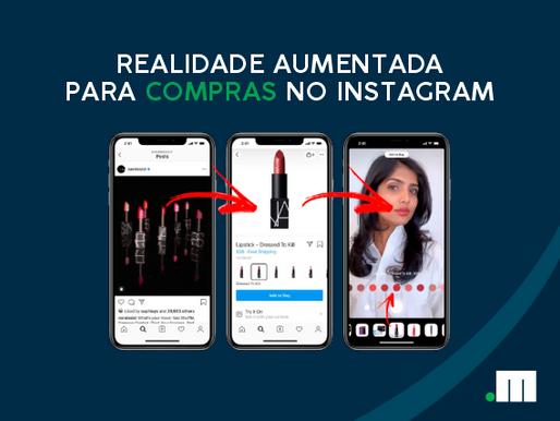 Realidade aumentada para compras no Instagram