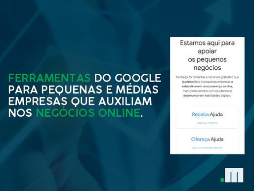 Ferramentas do Google que auxiliam pequenas e médias empresas nos negócios online