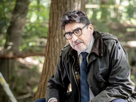 Alfred Molina filming Three Pines at Morgan Arboretum
