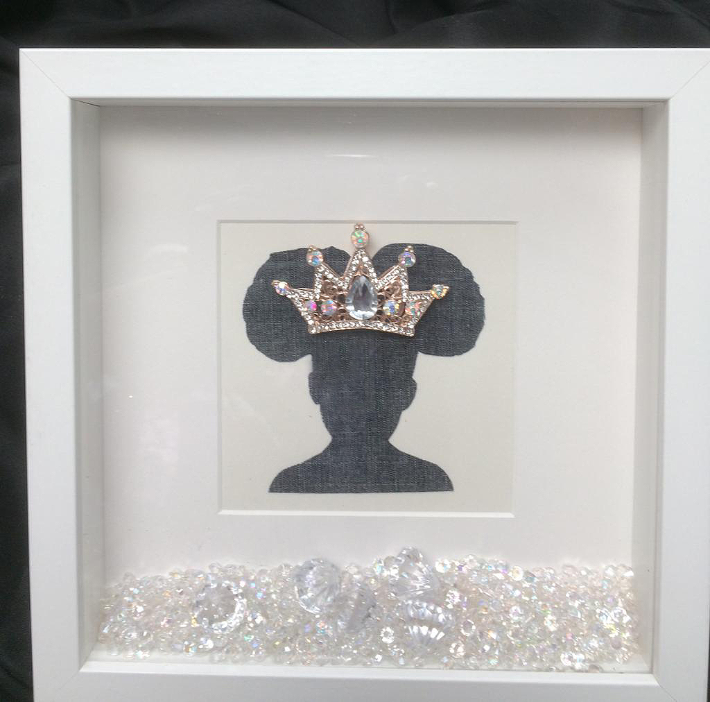 Crown with Afro puffs