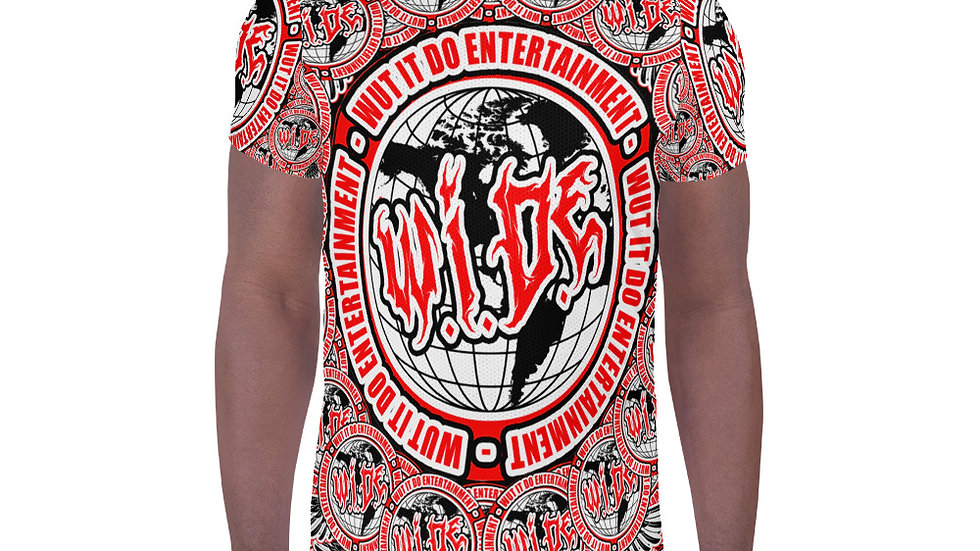 WIDE All-Over Print Men's Athletic T-shirt