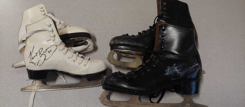 Donation of Autographed Skates