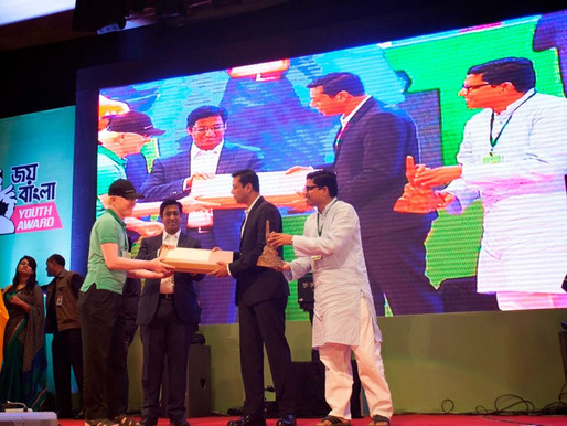 Our Founder, Ahsan Rony, wins the Joy Bangla Youth Award