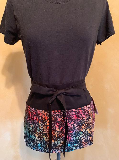 Crafter apron-Rainbow Batik