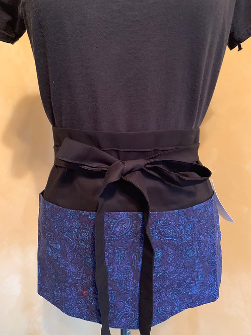 Crafter apron-Blue &Purple Paisley
