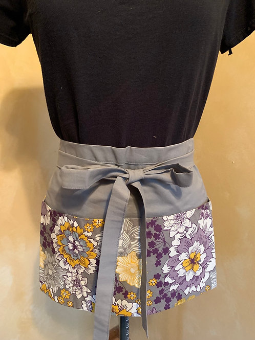 Crafter apron-Purple & Gold Floral