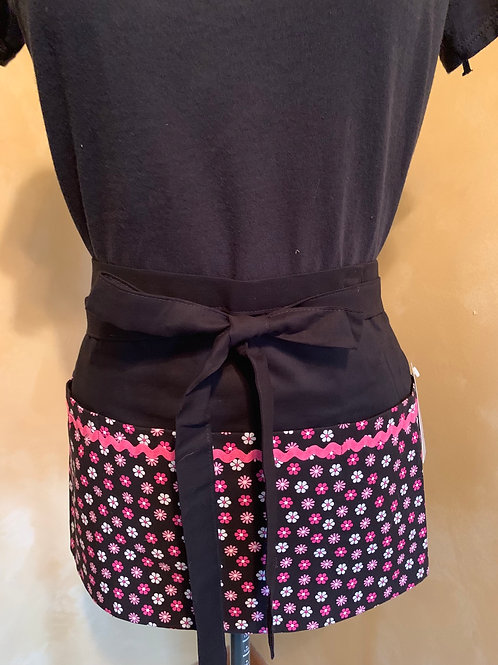 Crafter apron-Pink flowers