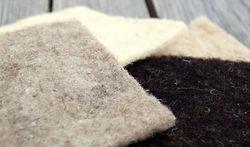 nappe de feutre 100% laine aiguilleté