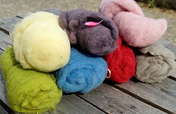nappe de laine à feutrer de teinture végétale