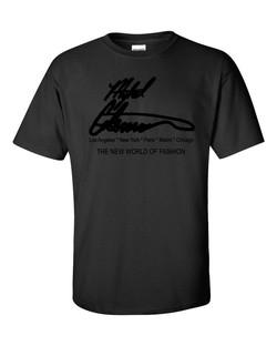 Mykel Coleman Designs New World of Fashion T Shirt Black
