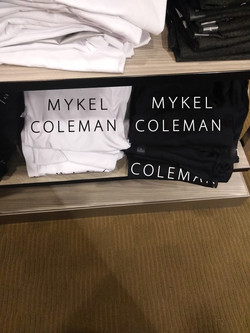 MYKEL COLEMAN BLACK AND WHITE TEES