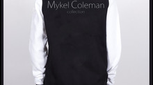 Mykel Coleman Collection - Varsity Fleece Jacket (Blk & White)