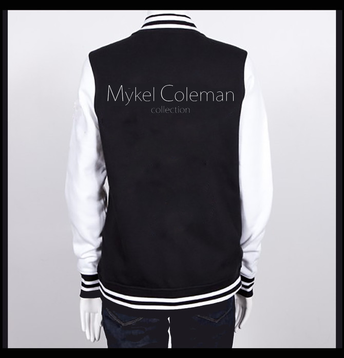 Mykel Coleman Collection - Varsity Fleece Jacket (Blk & White)