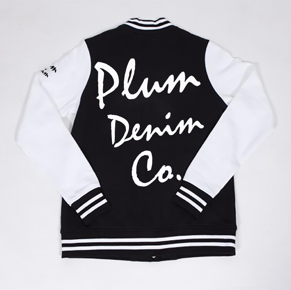 Plum Denim Co. Varsity Jacket Back
