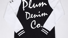 Plum Denim Co. - Lady Varsity Fleece Jacket (Blk & White)