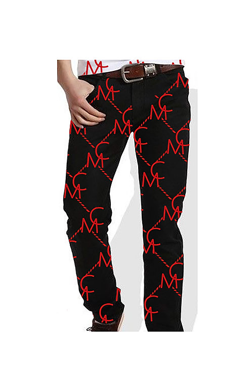 Men Mykel Coleman Black Pattern Denim