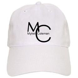 MC Mykel Coleman White Ball Cap