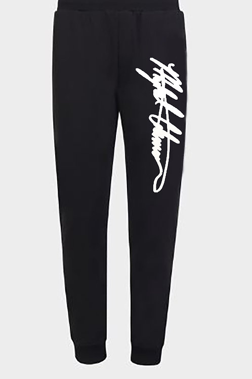 Solid Mykel Coleman Embroidered Logo Sweatpants