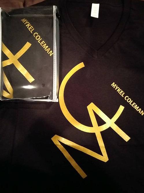MC Mykel Coleman - Black and Yellow V-Neck