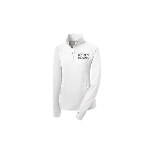 Broken Promises Women Half Zip Performance
