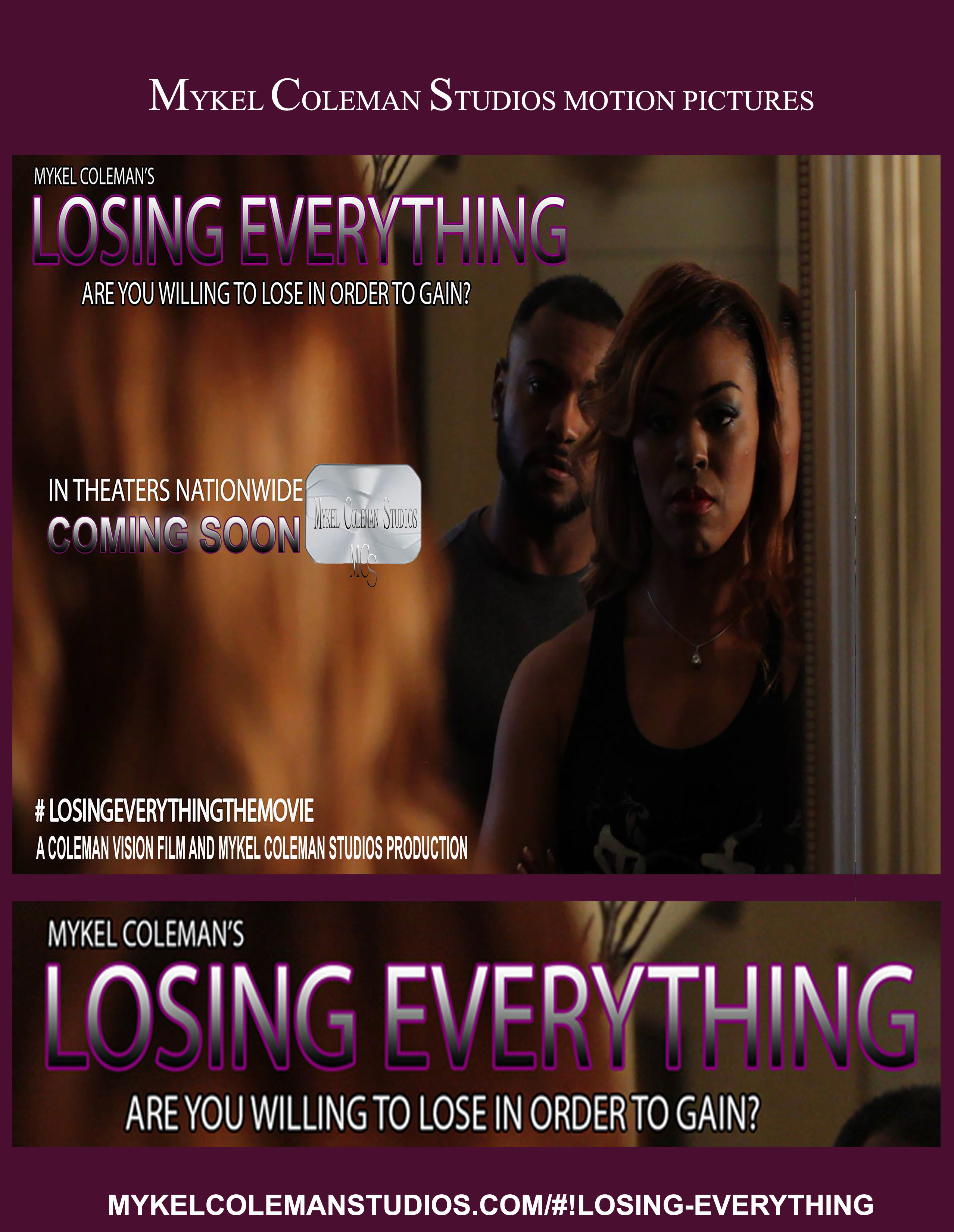 Losing Everything Movie Banner