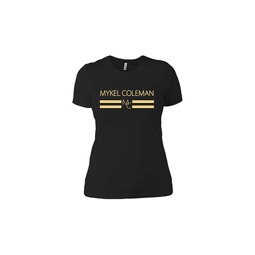 Women Mykel Coleman V-Neck Authentic Design
