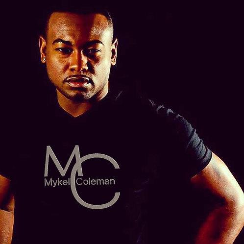 MC Black with Metallic Silver Logo Tee