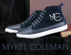 MC Mykel Coleman Suede Sneakers