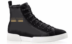 MYKEL COLEMAN SIGNATURE SNEAKER WITH GOLD LOGO