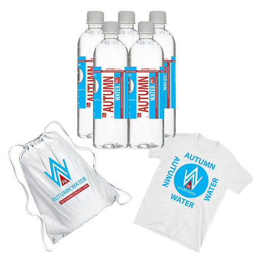 PROMO PACK - AUTUMN WATER PH7 (2 - 24 PACKS) T-Shirt and Nylon Bag - 16.9 oz
