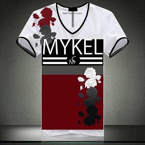 Mykel Roses Design T-Shirt