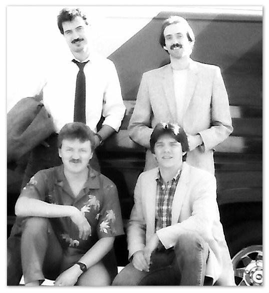 Clockwise from top left: John Randall Smith, Uncle Dave, Phillip Walker, Joe Shear