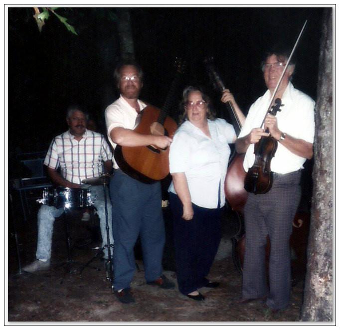 L-R:  Conrad Windham, Marty Cox, Lydia Cox, and Hubert Cox.