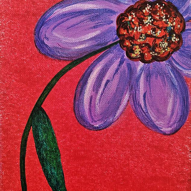 PURPLE FLOWER : $15