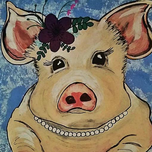 PRISCILLA PIG : SOLD
