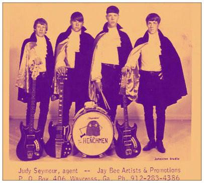 The Henchmen.  L-R: Tooker Dell, Jerry Clark, Monnie Carden, Flukie Dell
