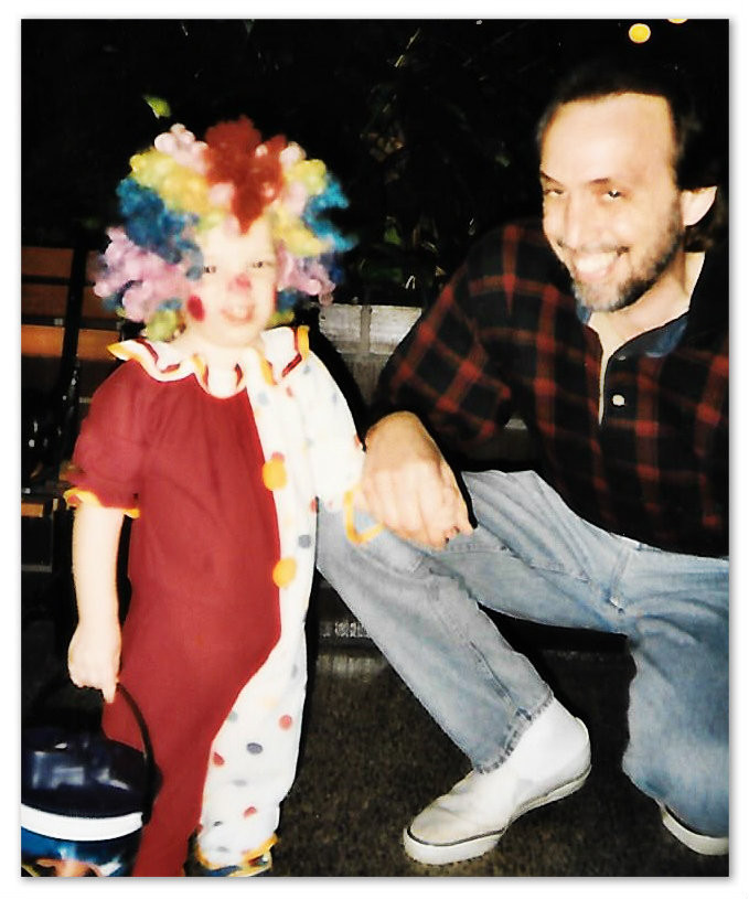 Connor the Clown with Uncle Daddy. 1996