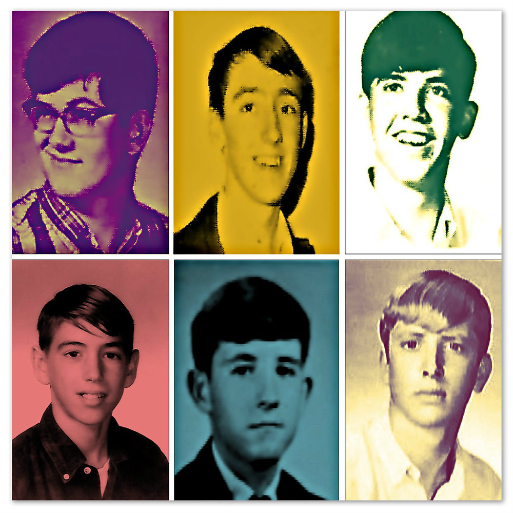 Back when we played. Clockwise L-R: James, Gary, Ray, Johnny, Greg, Uncle Dave. 1967