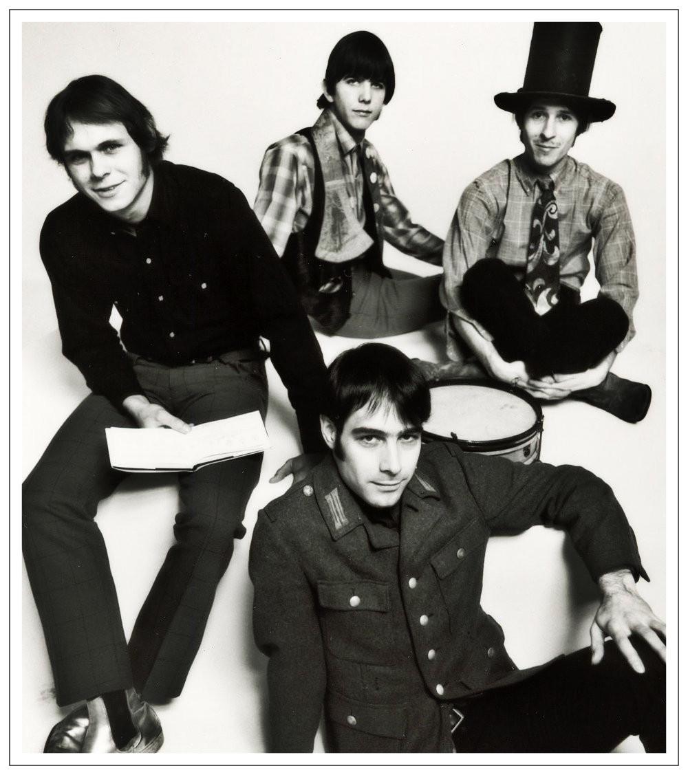 International Submarine Band. Clockwise from top: Gram Parsons, Mickey Gauvin, John Nuese, Ian Dunlop.