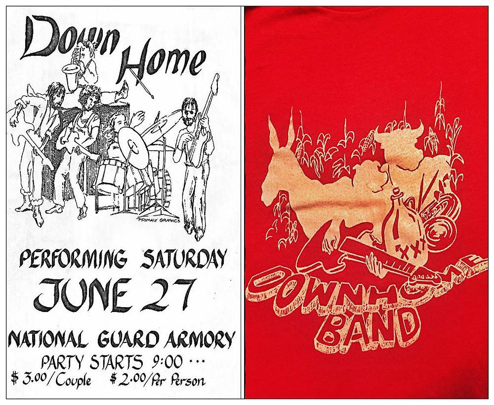 L: National Guard Armory flyer.  R: DHB t-shirt.
