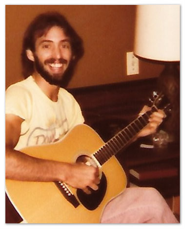 Uncle Dave with his new Takamine, King of the Road, Valdosta GA, 1977.