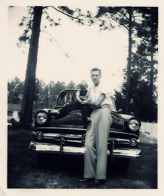 Uncle Dave and Daddy.  Doghill, Waycross GA, 1956