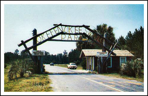 Okefenokee Swamp Park entrance in the Fifties.