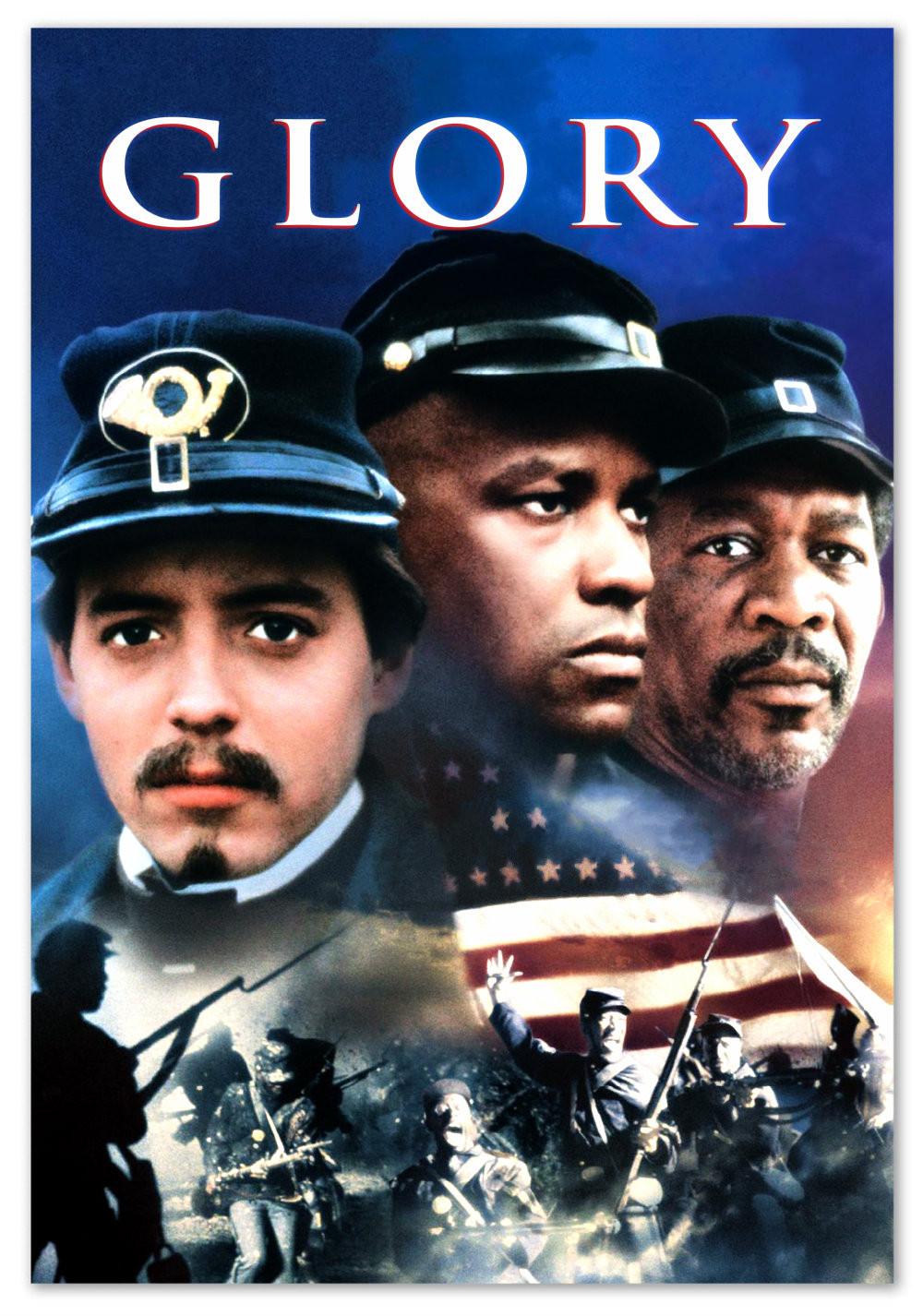 Glory, starring Matthew Broderick, Denzel Washington, Morgan Freeman, 1989