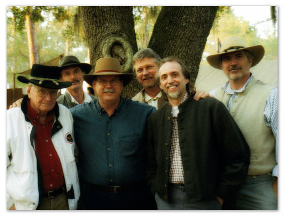 L-R: Judge Ben, Bill, unknown, Gerald, Uncle Dave, and John. Battle of Olustee, Florida, 1990s.