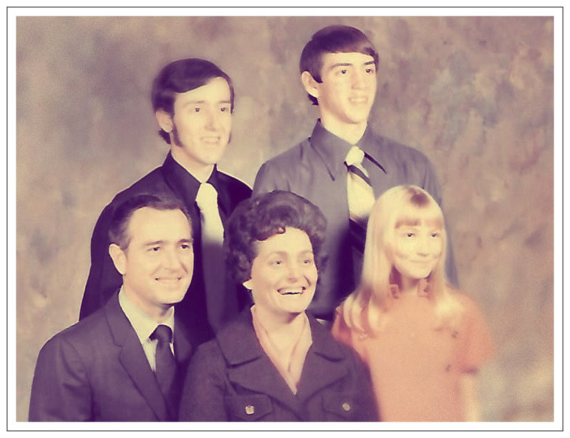 Daddy and Mama, Brother Gary, Uncle Dave, and Sister Deb.  1970